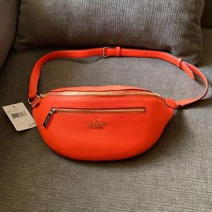 NWT Kate Spade Leila belt bag orange leather